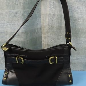 Black Leather Etienne Aigner Leather Purse